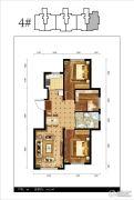 都市邻里3室2厅1卫105平方米户型图