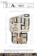 保亿绿城奥邸国际4室2厅3卫216平方米户型图