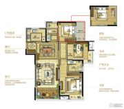 复地江城国际3室2厅2卫106平方米户型图