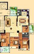 鸿泰华府4室2厅2卫145平方米户型图