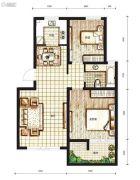丽都新城二期爱丽香舍2室2厅1卫0平方米户型图