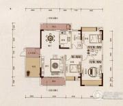京华假日湾3室2厅2卫109平方米户型图