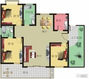 棕榈泉花园3室2厅2卫146平方米户型图