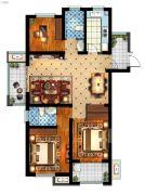 丽景湾华庭3室2厅2卫116平方米户型图