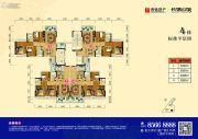 长信公馆88--89平方米户型图