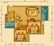 金鸿城三期归谷2室2厅1卫88平方米户型图