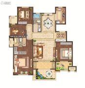 月桥花院4室2厅2卫141平方米户型图