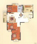 天鹅第一城3室2厅1卫120平方米户型图