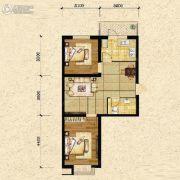 瑞士风情小镇三期铂邸2室2厅1卫69平方米户型图