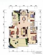 公园1号3室2厅2卫150平方米户型图