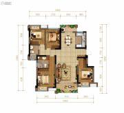 佳兆业悦府4室2厅2卫124平方米户型图