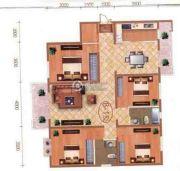 檀香湾4室2厅2卫160平方米户型图
