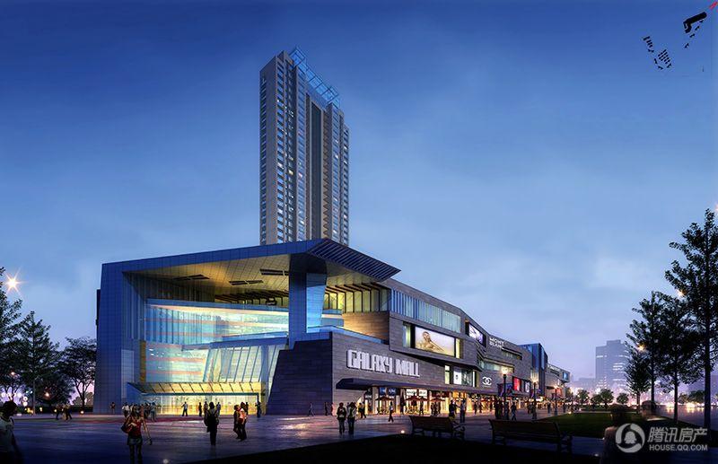 购物中心东入口透视(2013.12.19)