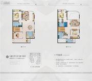 三盛滨江国际4室3厅3卫114平方米户型图
