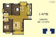 东方明珠3室2厅2卫155平方米户型图
