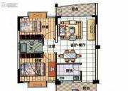星悦蓝湾2室1厅1卫65平方米户型图