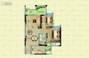 奥园公园一号2室2厅1卫74--77平方米户型图