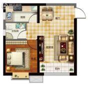天昱・凤凰城1室1厅1卫56平方米户型图