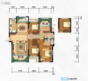 奥克斯缔壹城4室2厅2卫141平方米户型图