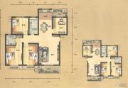 奥园康城4室2厅2卫147平方米户型图