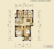 知春苑3室2厅1卫96平方米户型图