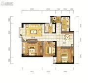 东方希望天祥广场天荟2室2厅1卫111平方米户型图