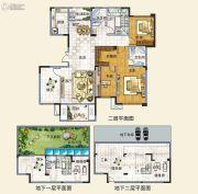 中建观湖国际3室2厅3卫166平方米户型图