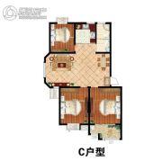 鹏润・格林上郡3室2厅1卫112平方米户型图