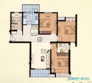 恒力・水木清华3室2厅2卫136平方米户型图