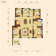 金地檀府4室2厅2卫156平方米户型图