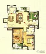 高成天鹅湖2室2厅2卫120平方米户型图