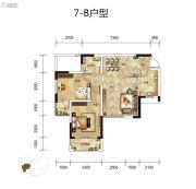 骧龙国际2室2厅1卫86平方米户型图