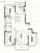 奥园香雪华府3室2厅2卫130平方米户型图