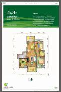 泾渭分明生态半岛3室2厅2卫138平方米户型图