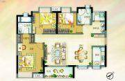 北部万科城3室2厅2卫107平方米户型图