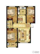 清山公爵城3室2厅1卫116平方米户型图