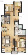 万科城3室2厅2卫116平方米户型图