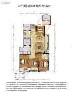 远洋招商・上塘宸章4室2厅2卫0平方米户型图