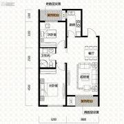 唐轩・公馆2室2厅1卫88平方米户型图