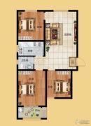 香榭丽都3室1厅1卫106平方米户型图