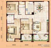 香山湖景天成3室2厅2卫118平方米户型图