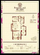 浦江国际3室1厅2卫0平方米户型图