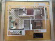 楚荣・首府3室2厅1卫106平方米户型图