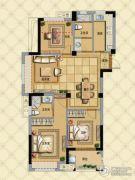 璞缇学苑3室2厅2卫102平方米户型图