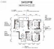 漾城3室2厅2卫0平方米户型图