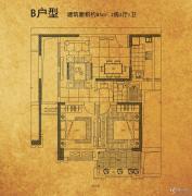 招商・北固湾2室2厅1卫0平方米户型图