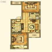 银亿格兰郡2室2厅1卫89平方米户型图