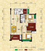 光瑞江都华宸2室2厅1卫91平方米户型图