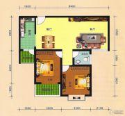 阳光华府2室2厅1卫89平方米户型图