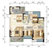 宏联・美誉名座3室2厅2卫108平方米户型图